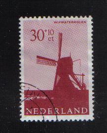 Netherlands  1963  used  windmills 30 + 10 ct #