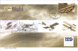 100 Years Of Flight First Day Cover Farman M.F.11 Shorthorn 2004 Liberia Z5509
