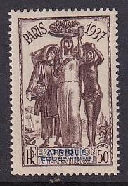 French Equatorial Africa   #30   MNH  1937 Paris exhibition  50c