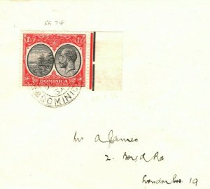 DOMINICA KGV SG.74 Cover GB London 1936 {samwells-covers} PB74