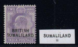 Somaliland Protectorate, SG 27c, MNH Sumaliland variety