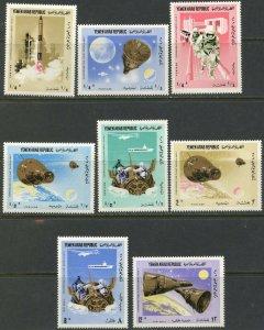 YEMEN AR Sc#232-232G 1966 Gemini 6 & 7 Flights Set & S/S Complete Mint OG NH