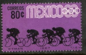 MEXICO 984, 80c Bicycling 3rd Pre-Olympic Set 1967. MINT, NH. VF.
