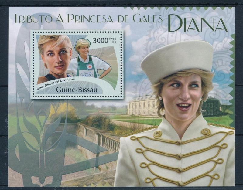 [48707] Guinea Bissau 2012 Princess Diana Red Cross Mint, almost VF 3 sheets