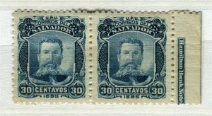 SALVADOR; 1895 early President Ezeta issue MISSING OPTD unissued Mint Block