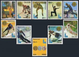 Paraguay 1985-1988,1988A,MNH.Michel 3347-3356,Bl.360. Olympics Lake Placid-1980.