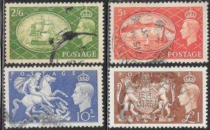 Great Britain 286-289 Used - King George VI