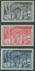 Fr So Antarctic Ter SC# 8-10 Polar Observation 5f 10f 15f MH