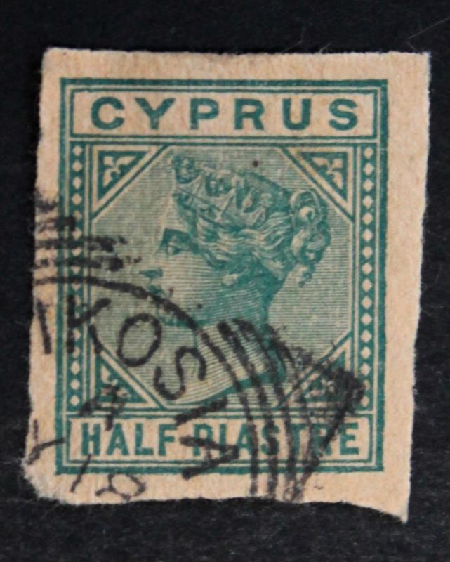 CYPRUS STAMP SC# 11 Postal Stationery Cut Square 1881