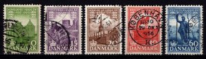 Denmark 1953-56 1,000 Years of Danish Kingdom, Second Set [Used]