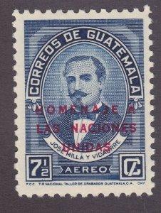 Guatemala C230 MNH 1959 José Milla y Vidaurre Honor United Nations Overprinted