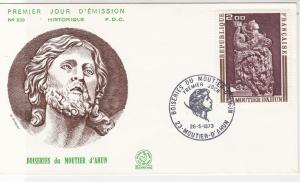 France 1973 Celebrating Moutier D'Ahun Slogan Cancel & Stamp FDC Cover Ref 31644