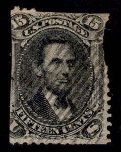 US Stamp #77 15c Black Lincoln USED w/ Faults SCV $175