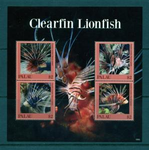 PALAU  2019 CLEARFIN  LIONFISH SHEET MINT NEVER HINGED