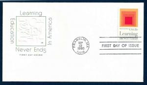 UNITED STATES FDC 15¢ Learning 1980 Farnam