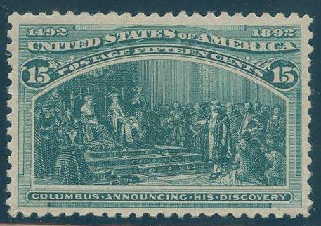 US Scott #238 Mint, VF/XF, Hinged