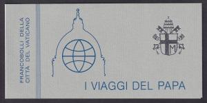 Vatican City   #743a    MNH  1984  booklet  Papal journeys