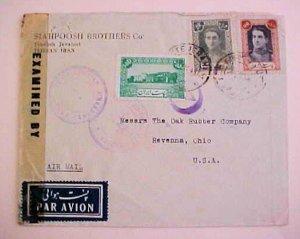 IRAN  3 DIFF. CENSORS , 2 RUSSIA APRIL 1945 B/S IRAQ TO USA