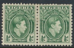 Nigeria  SG 49a pair  MH  Perf 11½   1950 Definitive please see scan