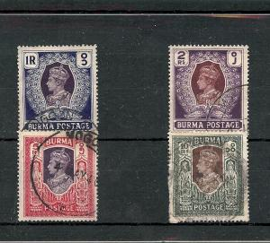 Burma, 30-33, King George VI High Values Singles,**Used**