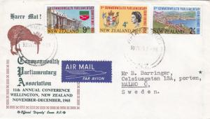 New Zealand 1966 Commonwealth Parliamentary Conference FDC Whangarei CDS VGC