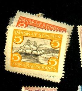 Danish W Indies #31-39 MINT FXF OG LH Cat$170