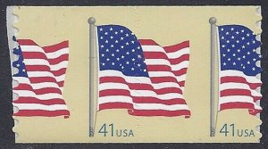 4188 - Scarce Huge Misperf Error / EFO Right Down Middle Flag Mint NH