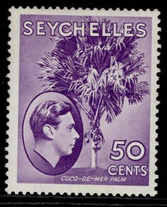 SEYCHELLES GVI SG144b, 50c bright lilac, M MINT.