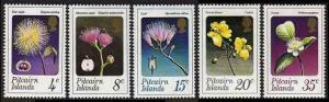 HERRICKSTAMP PITCAIRN ISLANDS Sc.# 130-34 Flowers