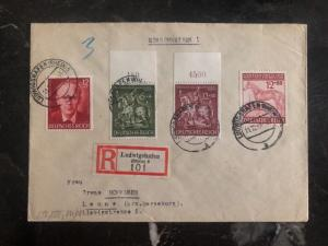 1943 Ludwigshafen Germany Registered Cover To Landau