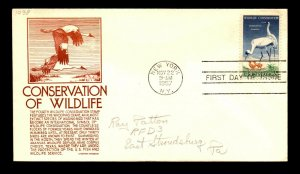 SC# 1098 FDC / Anderson Red Cachet - N504