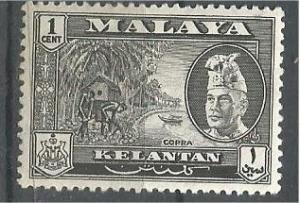 KELANTAN, 1957, MH 1c, Copra. Scott 72