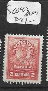 PARAGUAY (PP2604B)  OFFICIAL SC O43   MOG