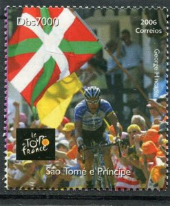 Sao Tome & Principe 2006 CYCLING Tour de France 1 value Perforated Mint (NH)