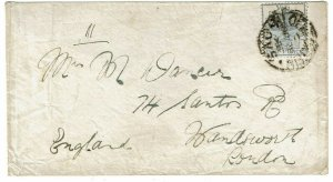 Orange Free State 1898 Bloemfontein cancel on cover to England