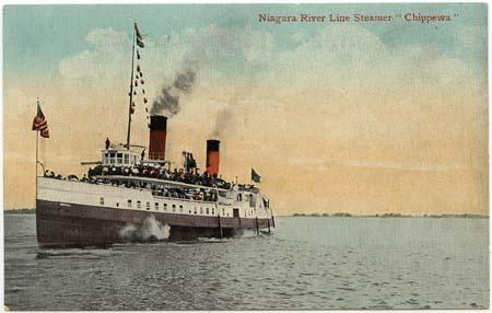 Canada Picture Post Card Showing Niagara River Line Steamer Chippewa