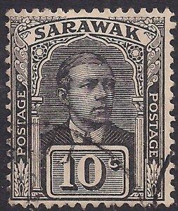 Sarawak 1918 KGV 10ct Black used SG 83 ( R603 )