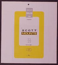 Scott Mounts Black, 184/184 mm (pkg 4) (01014B)