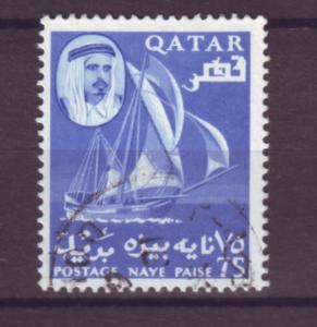 J20874 Jlstamps 1961 qatar used #32 sheik