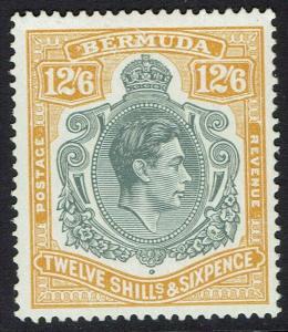 BERMUDA 1938 KGVI 12/6 PERF 14