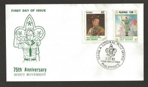 1982 Philippines Boy Scouts 50th anniversary BadenPowell FDC 2