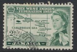 Jamaica SG 175  Used   SC# 175   Caribbean Federation  see details