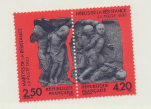 France Scott #2364 To 2365, Mint Never Hinged MNH, Martys and Heroes of the R...