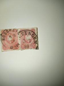 1875-77 Pfennige design issue 10 carmine