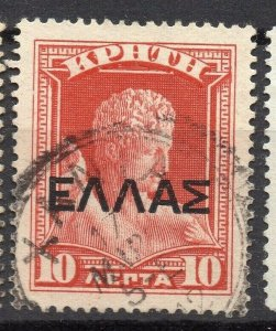 Crete 1909 Greek Admin Early Issue Fine Used 10l. Optd NW-14316