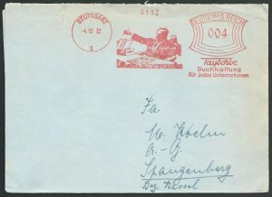 GERMANY 1932 Stuttgart cover red meter 'Accounting for every Company'......52028