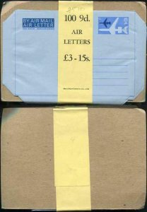 AP14a 9d Air Mail Letter Pack of 100