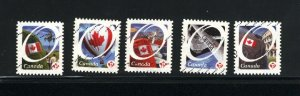 Canada #2419-23  -1  used  VF 2011 PD
