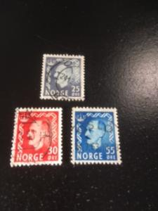 Norway sc 322-324 u comp set