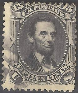 USA #77 Used 1866 Single 15c Stamp